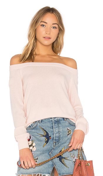 Rebecca Minkoff Shelby Sweater in pink - 70% wool 30% cashmere. Dry clean only. Knit fabric....