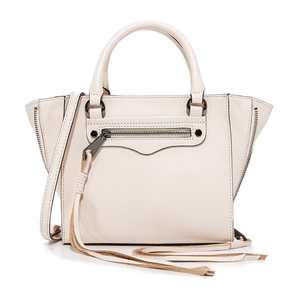 Rebecca Minkoff side zip mini regan tote in soft blush - Side zips with long pulls expand the depth of this...