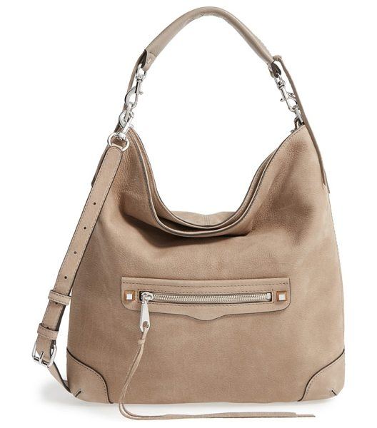 Rebecca Minkoff Slim regan hobo in sandstone/ gunmetal hrdwr - A whipstitched carry handle and trailing tassel details...