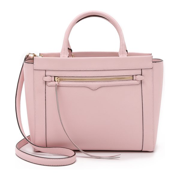 Rebecca Minkoff Small monroe tote in baby pink - A scaled down Rebecca Minkoff tote with a structured...
