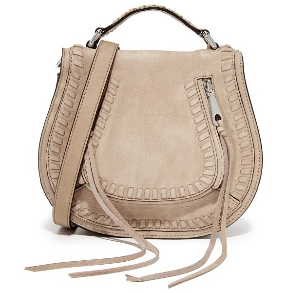 Rebecca Minkoff small vanity saddle bag in sandstone - A soft leather Rebecca Minkoff bag with whipstitching at...
