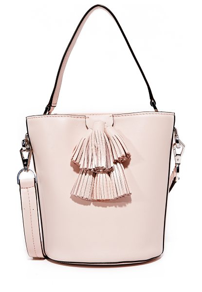 Rebecca Minkoff sofia top handle bucket bag in soft blush