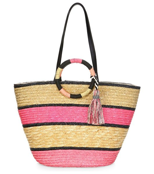 REBECCA MINKOFF straw tote bag - Roomy straw tote bag for summer pursuits. Top snap closure....