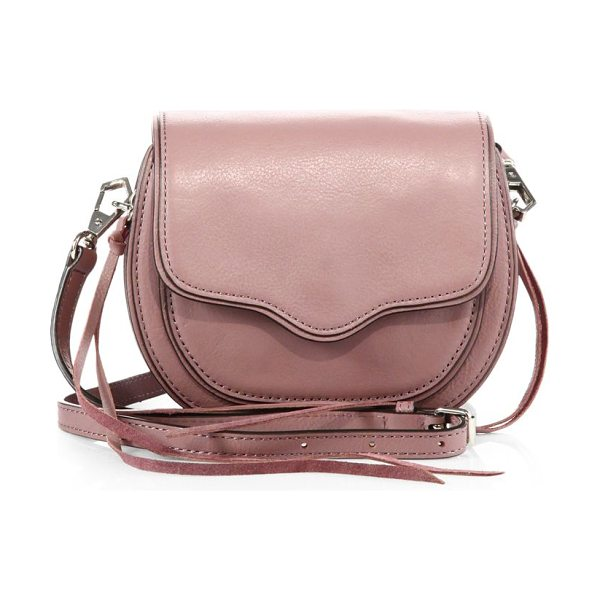 Rebecca Minkoff Sydney mini leather crossbody bag in mauve - Petite leather crossbody with scalloped flapRemovable,...