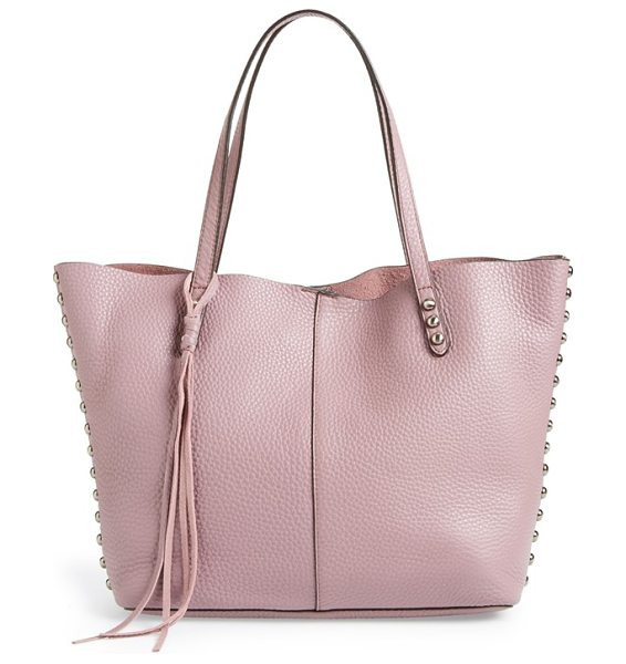 Rebecca Minkoff Tote in mauve - Enameled studs and logo hardware add understated...
