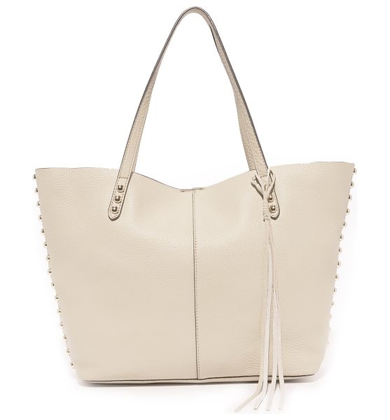 REBECCA MINKOFF Rebecca Minkoff Unlined Tote - A large, pebbled leather Rebecca Minkoff tote with a...