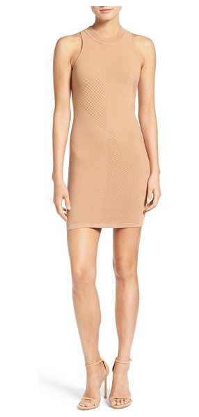 Rebecca Minkoff 'val' body-con dress in camel - Mixed-directional rib knitting adds incredible dimension...