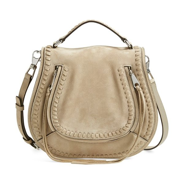 Rebecca Minkoff Vanity saddle bag in sandstone - Chunky whipstitching traces the saddle-inspired flap of...
