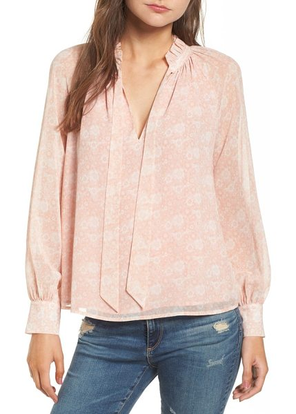 Rebecca Minkoff viko blouse in light pink multi - Fluttery ties pull together the retro vibe of this...