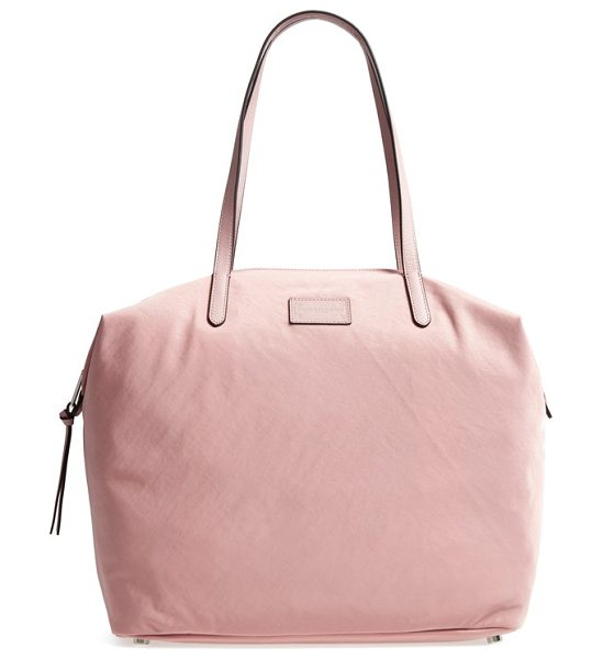 Rebecca Minkoff washed nylon tote in pink - Over-the-shoulder straps add carrying convenience to the...
