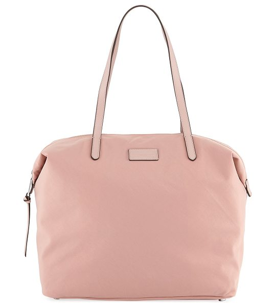 Rebecca Minkoff Washed Nylon Tote Bag in pink - Rebecca Minkoff tote bag in washed nylon. Flat top...