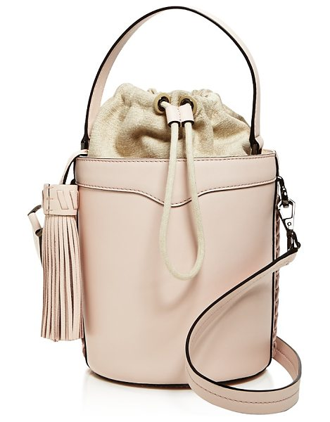 Rebecca Minkoff Whipstitch Top Handle Leather Bucket Bag - 100% Exclusive in soft blush/gunmetal - Rebecca Minkoff Whipstitch Top Handle Leather Bucket Bag...