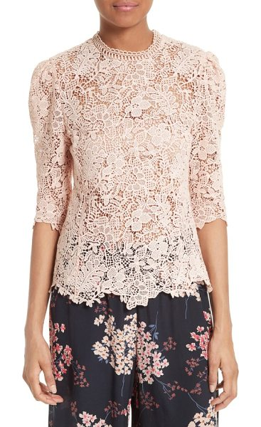 REBECCA TAYLOR arella lace top - Delicate floral lace is artfully sculpted into a sheer,...