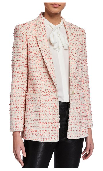 Rebecca Taylor Beckie Tweed Jacket in pink