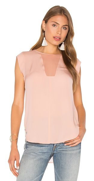 Rebecca Taylor Charlie Top in rose - 100% silk. Dry clean only. Back button closure. Sheer...