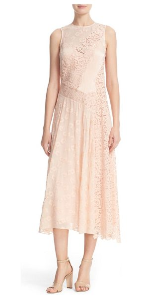 Rebecca Taylor chevron lace midi dress in ballet
