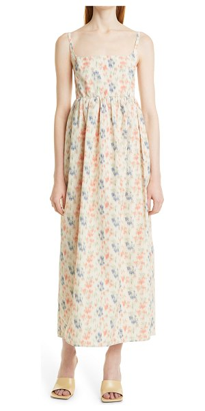 Rebecca Taylor emma floral print sleeveless dress in pink multi combo