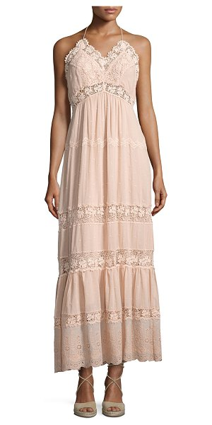 Rebecca Taylor Eyelet Sleeveless Maxi Dress in pink - Rebecca Taylor maxi dress in embroidered cotton with...