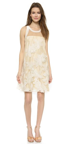 Rebecca Taylor Floral organza dress in canvas/cream - An elegant Rebecca Taylor shift dress with a structured...