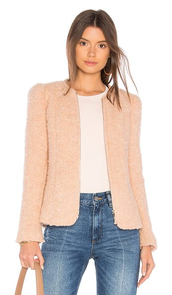 Rebecca Taylor Fluffy Tweed Jacket in pink