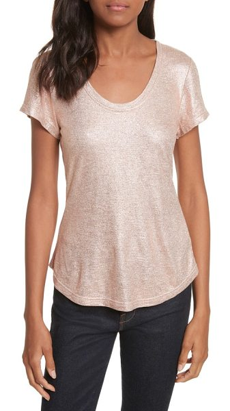 REBECCA TAYLOR foil jersey top - Add a luminous glow to your ensemble in this sparkly...