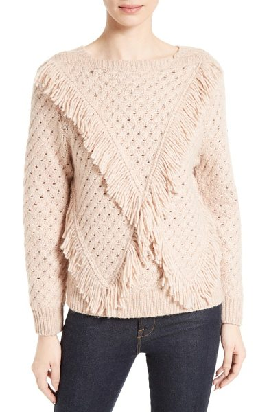 Rebecca Taylor fringe pullover in ballet - Lush fringe adds playful movement to a subtly textured,...