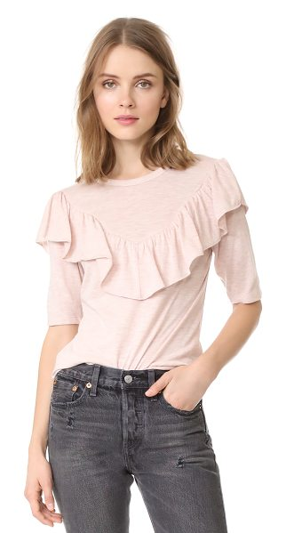 Rebecca Taylor melange jersey tee in ballet heather - This soft jersey Rebecca Taylor top is updated with a...