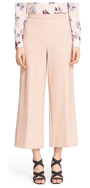 Rebecca Taylor palazzo suit pants in tea rose - A cropped length bring a fresh, more feminine look to...