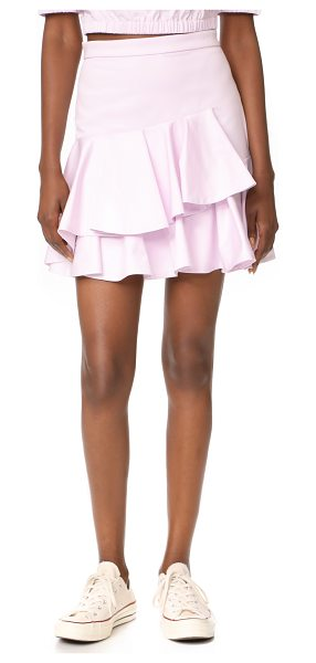 Rebecca Taylor ruffle skirt in iris haze - This flirty Rebecca Taylor skirt is detailed with a...