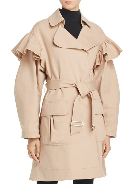 Rebecca Taylor Ruffle Trench Coat in dune - Rebecca Taylor Ruffle Trench Coat-Women