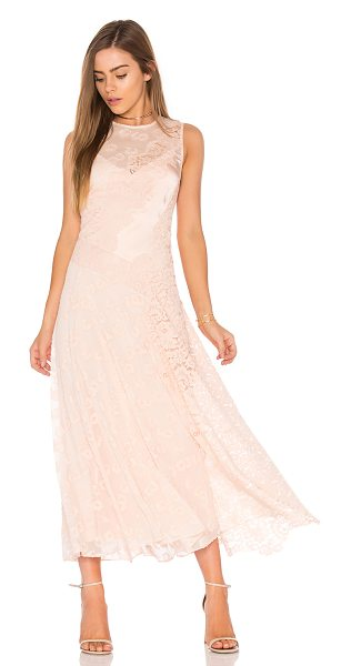 Rebecca Taylor Sleeveless Chevron Lace Dress in pink - Shell: 78% silk 22% cottonContrast: 65% cotton 35%...