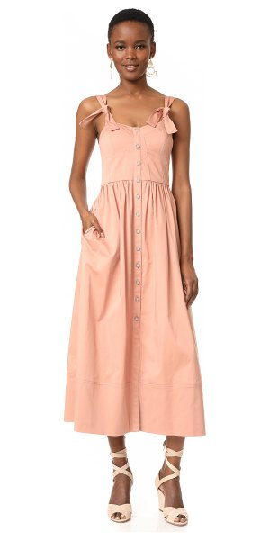 Rebecca Taylor sleeveless dress in nude glow - This feminine Rebecca Taylor dress is crafted with a...