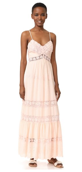 Rebecca Taylor sleeveless eyelet dress in ballet - Lace insets and tonal embroidery bring delicate detail...
