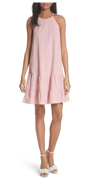 REBECCA TAYLOR sleeveless stripe tank dress in candy floss combo - Pale vertical stripes pattern a breezy woven tank dress...