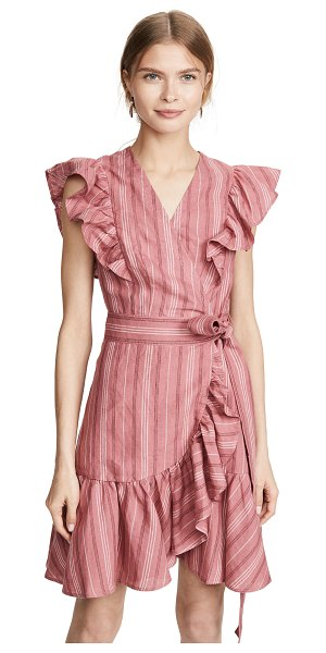 Rebecca Taylor sleeveless stripe wrap dress in desert rose