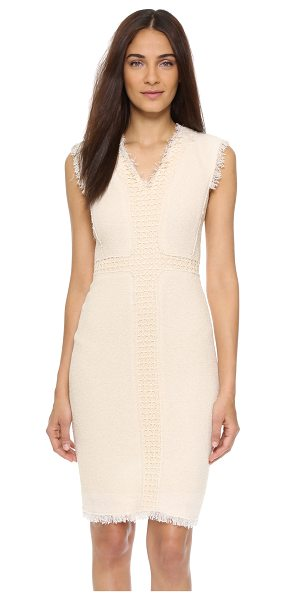 Rebecca Taylor sleeveless tweed dress in cream