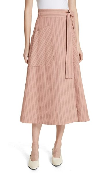 REBECCA TAYLOR stripe wrap midi skirt - An essential warm-weather skirt with a throwback vibe...