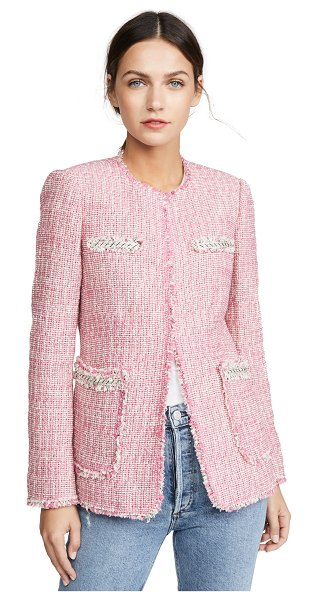Rebecca Taylor tweed jacket in pink combo