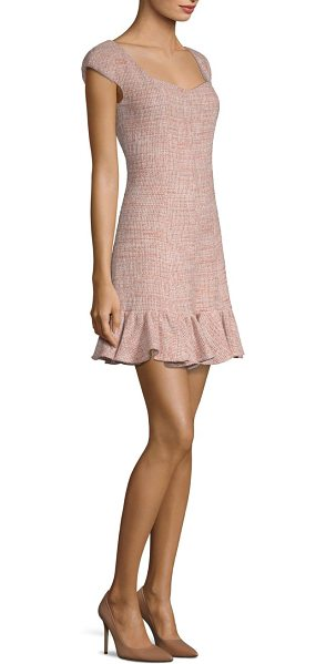 Rebecca Taylor tweed flounce dress in rosey nude