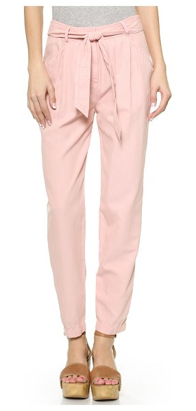 Rebecca Taylor Twill tie waist pants in candy pink - Slouchy Rebecca Taylor pants in a creamy blend of...