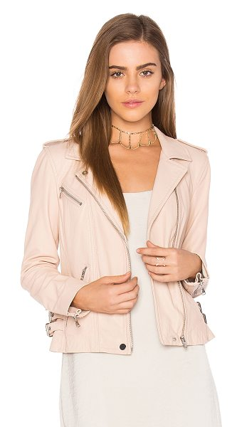 Rebecca Taylor Washed Leather Jacket in blush - Shell: 100% genuine leatherBody Lining: 100%...