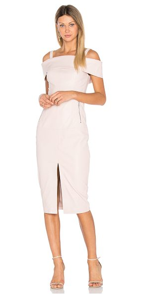 Rebecca Vallance Astor Off The Shoulder Dress in blush - Shell: 100% lamb leatherLining: 97% poly 3% spandex....