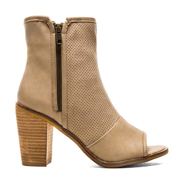 Rebels Haight Bootie in taupe - Perforated faux leather upper with man made sole. Heel...