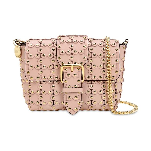 RED V Small flower puzzle leather bag in light nude