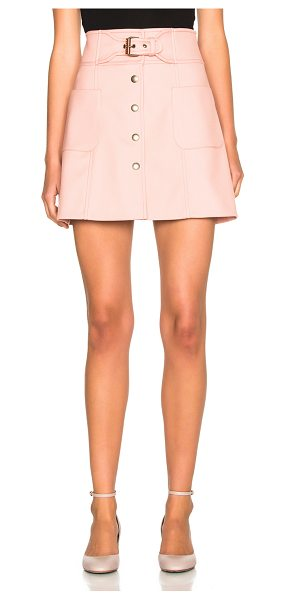 Red Valentino Belted Mini Skirt in pink - 72% poly 26% viscose 2% elastan.  Made in Hungary.  Dry...