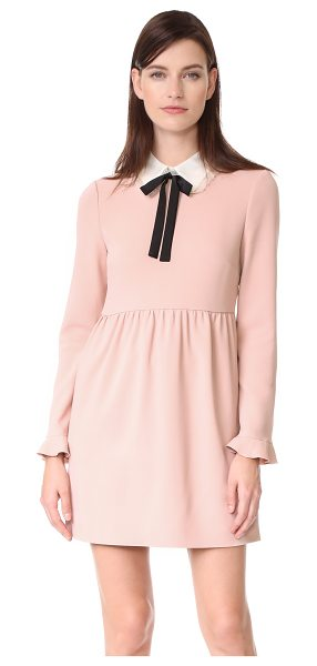 Red Valentino collared dress in nude/ivory - A charming RED Valentino dress with contrast ties at the...