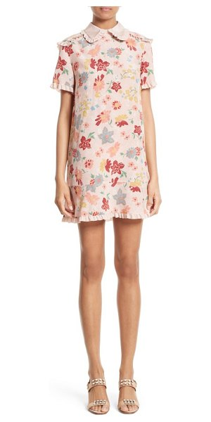Red Valentino floral print silk dress in nude - Inspired by the fashionable rockers who once inhabited...