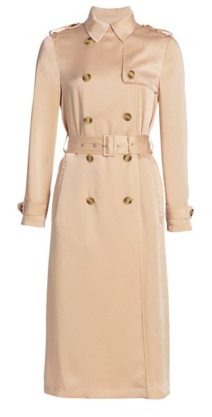 Red Valentino fluido satin trench coat in nude