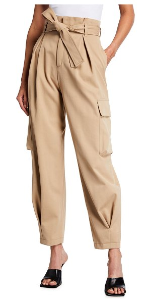 Red Valentino High-Waist Belted Cargo Pants in brown