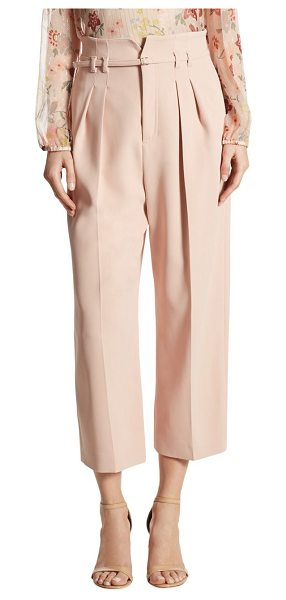 Red Valentino high-waist cropped wide-leg pants in nude - Pleated, high-waist pants in wide-leg silhouette. Belted...